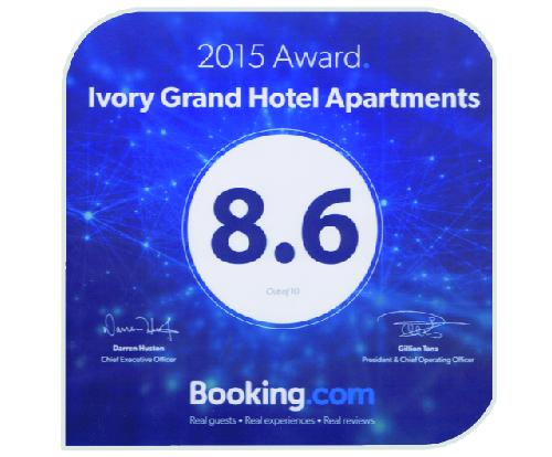 Booking.com 8.6 Award